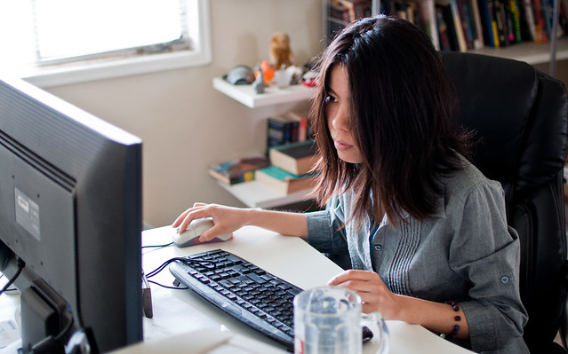 Girl at computer • Court Ordered Classes • Mandatory Classes • CEU Classes • Affordable Mandatory Classes • www.affordablemandatoryclasses.com